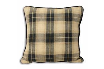 Riva Home Harewood Check Cushion Cover (Black) (45x45cm)