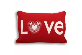 Riva Home Scandi Lovehearts Cushion Cover (Red) (35x50cm)