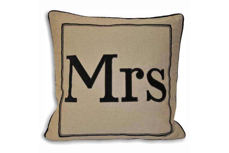 Riva Home Mrs Cushion Cover (Black/Grey) (45x45cm)