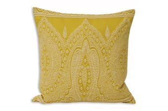 Riva Home Paisley Cushion Cover (Yellow) (50x50cm)