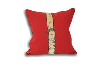 Riva Home Polo Strap Cushion Cover (Red) (45x45cm)