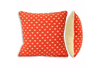 Riva Home Snuggle Heart Cushion Cover (Red) (45x45cm)
