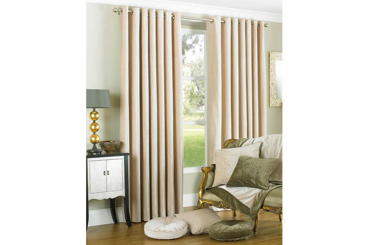 Riva Home Wellesley Ringtop Curtains (Natural) (66x90 (168x229cm))