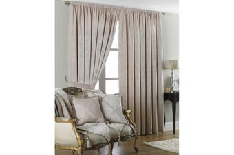 Riva Home Winchester Pencil Pleat Curtains (Natural) (90x90 (229x229cm))