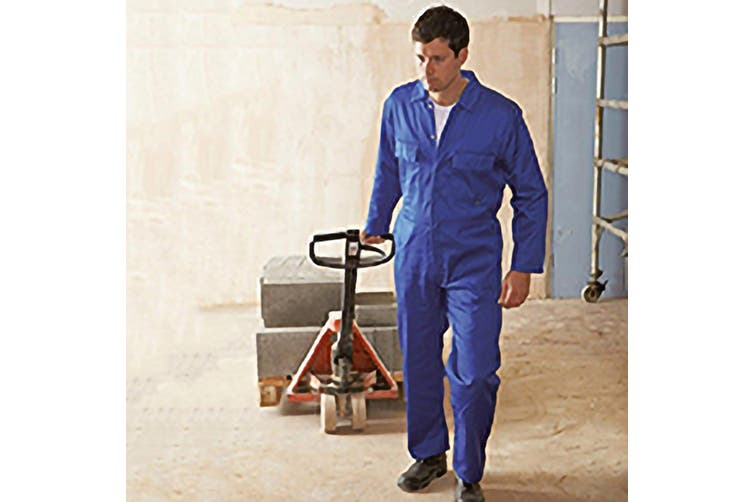 Portwest Mens Euro Work Polycotton Coverall (S999) / Workwear (Navy) (3XL x Regular)