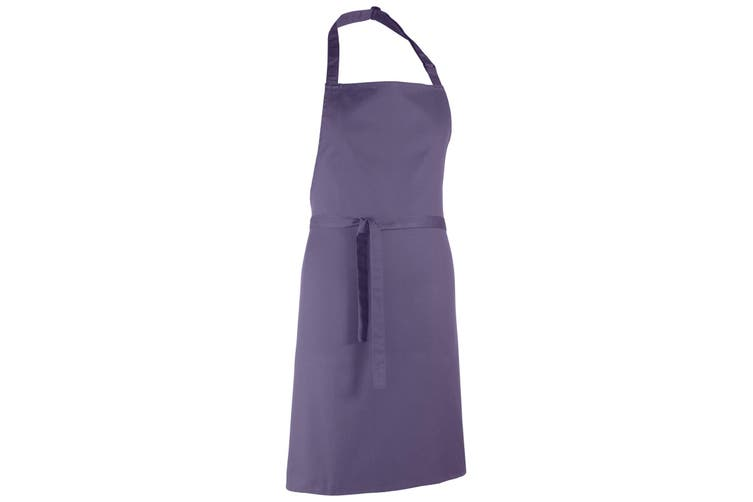 Premier Colours Bib Apron / Workwear (Purple) (One Size)