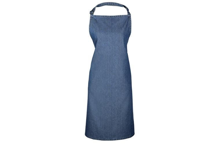 Premier Colours Bib Apron / Workwear (Indigo Denim) (One Size)