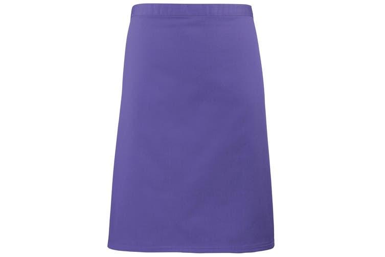 Premier Ladies/Womens Mid-Length Apron (Purple) (One Size)