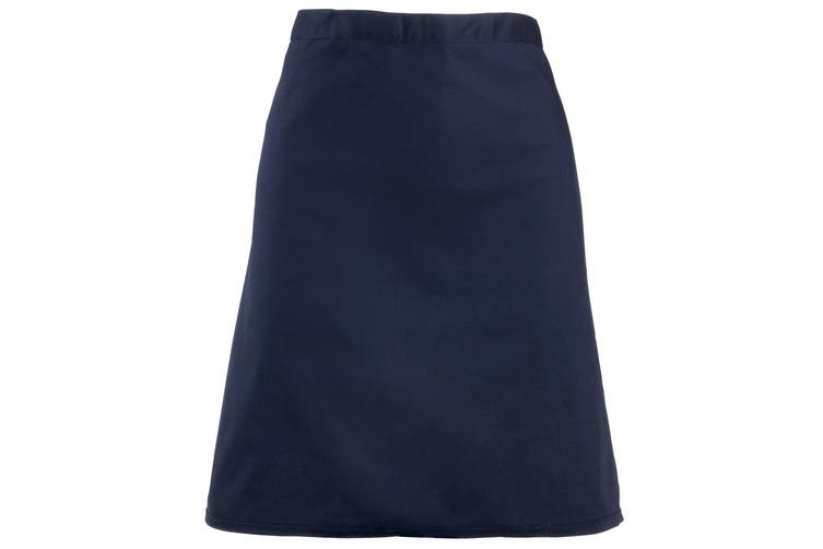 Premier Ladies/Womens Mid-Length Apron (Navy) (One Size)