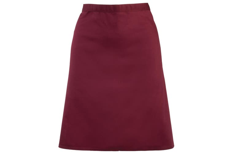 Premier Ladies/Womens Mid-Length Apron (Burgundy) (One Size)