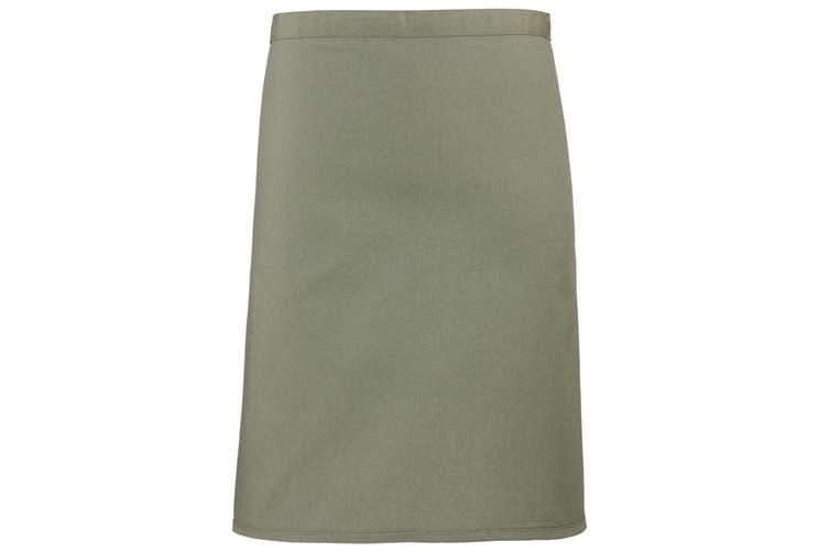 Premier Ladies/Womens Mid-Length Apron (Sage) (One Size)