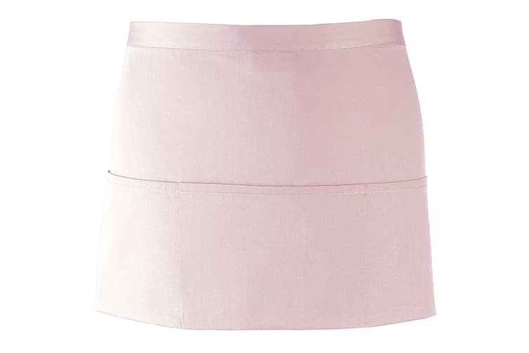 Premier Ladies/Womens Colours 3 Pocket Apron / Workwear (Pink) (One Size)