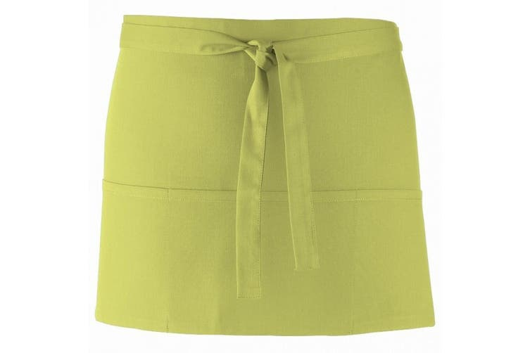 Premier Ladies/Womens Colours 3 Pocket Apron / Workwear (Lime) (One Size)