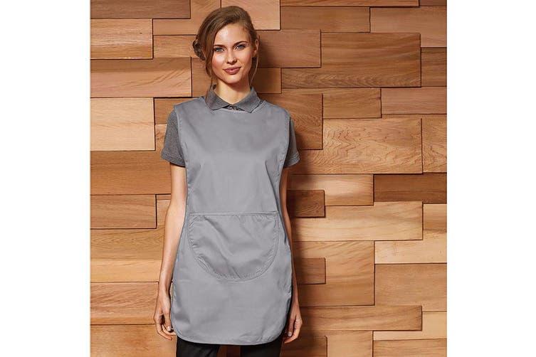 Premier Ladies/Womens Pocket Tabard / Workwear (Silver) (M)