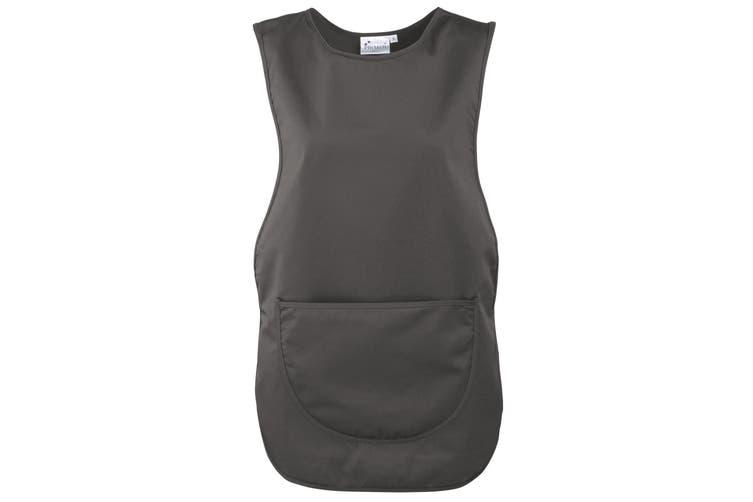 Premier Ladies/Womens Pocket Tabard / Workwear (Dark Grey) (L)