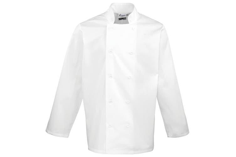 Premier Unisex Chefs Jacket (White) (XS)