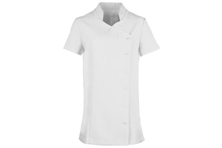 Premier Womens/Ladies *Orchid* Tunic / Health Beauty & Spa / Workwear (White) (6)