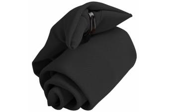 Premier Tie - Mens Plain Workwear Clip On Tie (Black) (One Size)