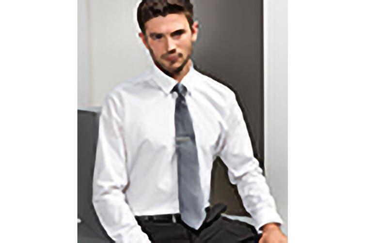 Premier Mens Plain Satin Tie (Narrow Blade) (Steel) (One Size)