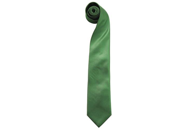 """Premier Mens """"Colours"""" Plain Fashion / Business Tie (Emerald) (One Size)"""