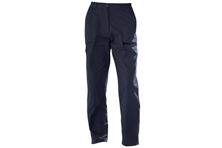 Regatta New Womens/Ladies Action Sports Trousers (Navy) (12 x Long)