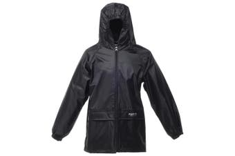 Regatta Kids Unisex Stormbreak Jacket (Waterproof & Windproof) (Black) (3-4)