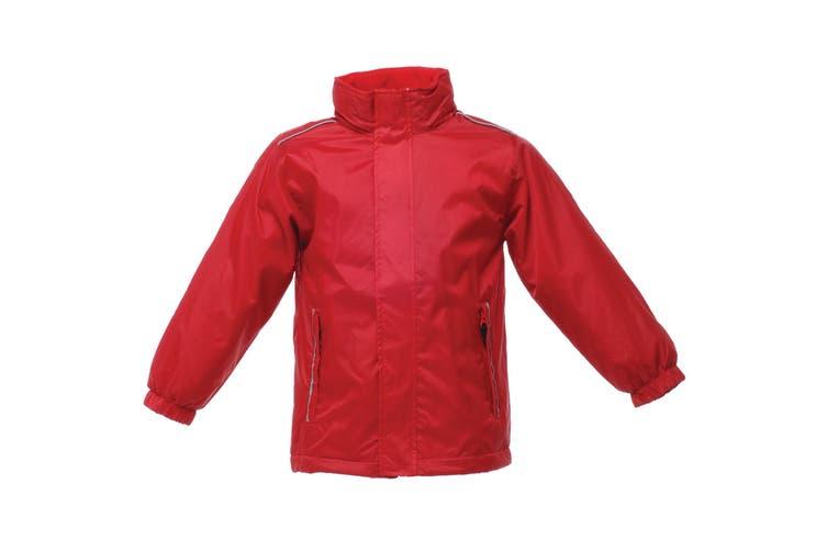 Regatta Kids Unisex 250 Series Fleece Lined Fresher Jacket (Classic Red) (5-6)