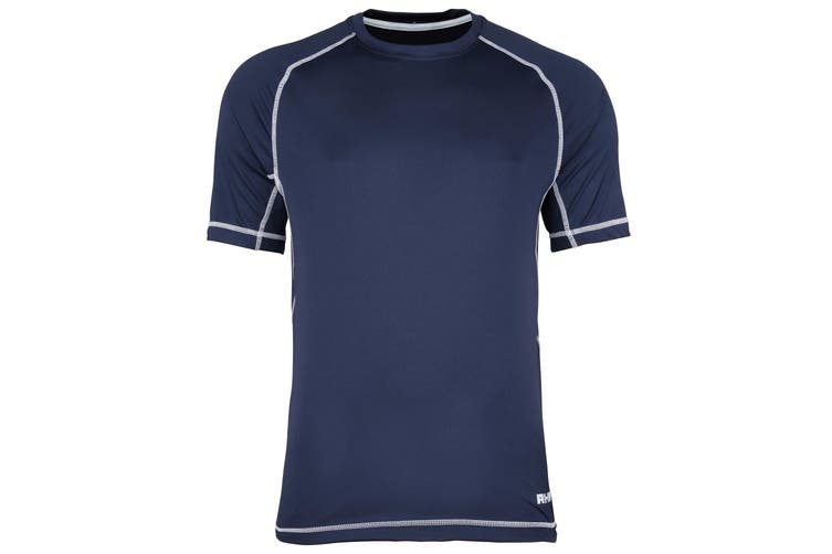 Rhino Kids Mercury Breathable Performance Sports Training T-Shirt (Navy/White) (MY)