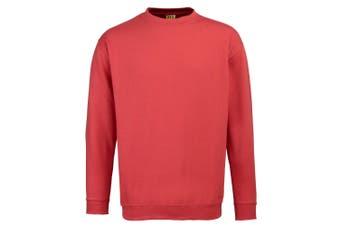 RTY Workwear Mens Set-in Sleeve Sweatshirt (Red)