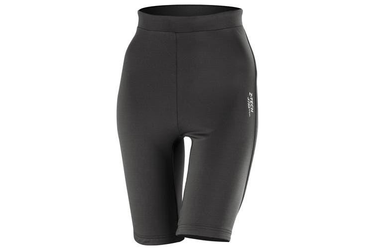 Spiro Womens Sprint Sports Training Shorts / Base Layer (Black) (S)