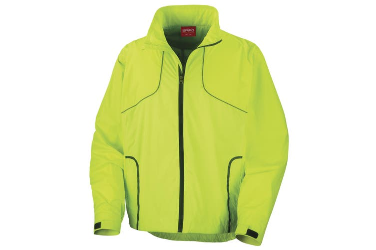 Spiro Mens Sports Crosslite Trail & Track Jacket (Waterproof  Windproof & Breathable) (Neon Lime) (S)
