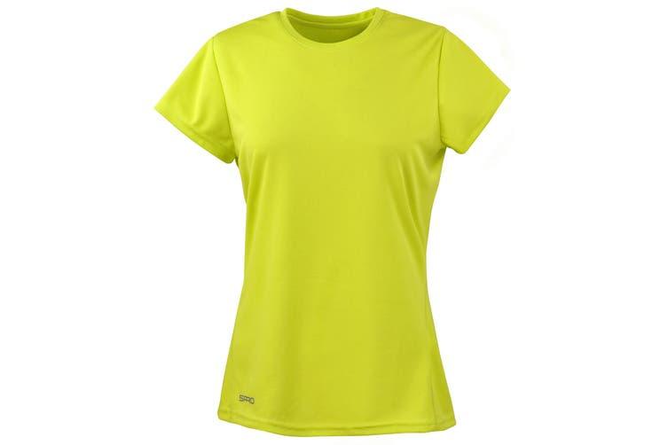 Spiro Womens/Ladies Sports Quick-Dry Short Sleeve Performance T-Shirt (Lime Green) (XL)