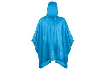 Splashmacs Unisex Adults Plastic Poncho / Rain Mac (Sapphire) (One Size)