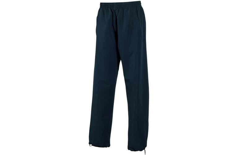 Tombo Teamsport Mens Open Hem Unlined Training Pants / Jogging Bottoms (Navy) (L)