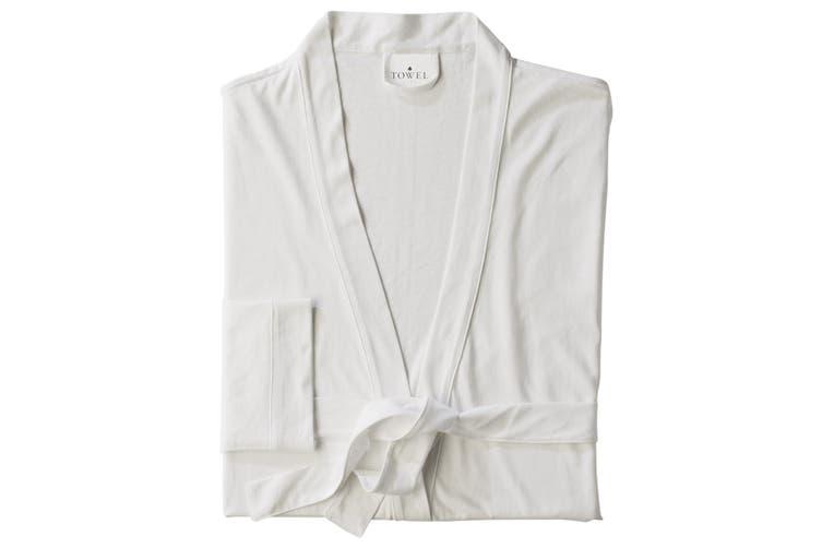 Towel City Womens/Ladies Wrap Bath Robe / Towel (180 GSM) (White) (M)