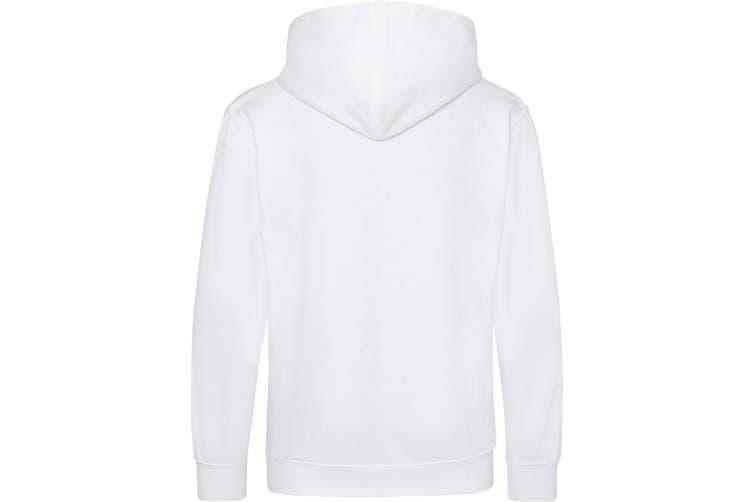 Awdis Kids Unisex Hooded Sweatshirt / Hoodie / Schoolwear (Arctic White) (5-6 Years)