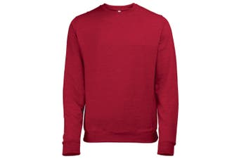 Awdis Mens Heather Lightweight Crew Neck Sweatshirt (Red Heather) (2XL)