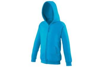 Awdis Kids Unisex Hooded Sweatshirt / Hoodie / Zoodie (Hawaiian Blue) (12-13)