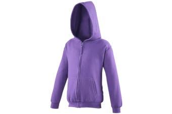 Awdis Kids Unisex Hooded Sweatshirt / Hoodie / Zoodie (Purple) (3-4)