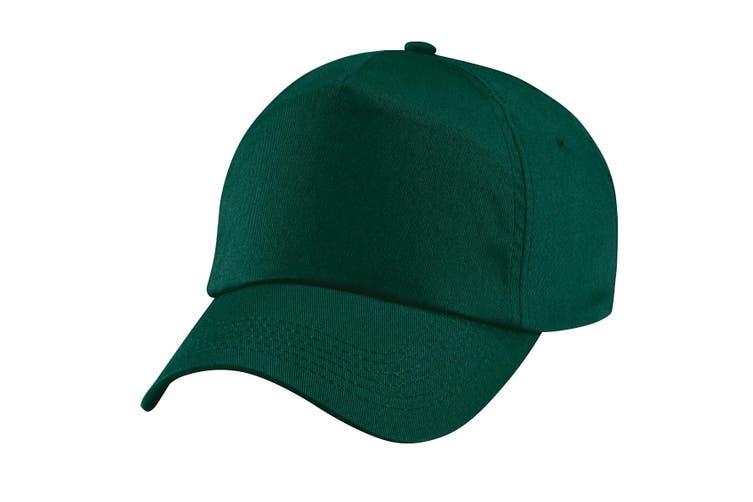 Beechfield Unisex Plain Original 5 Panel Baseball Cap (Bottle Green) (One Size)