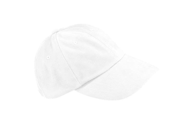 Beechfield Unisex Low Profile Heavy Brushed Cotton Baseball Cap (White) (One Size)