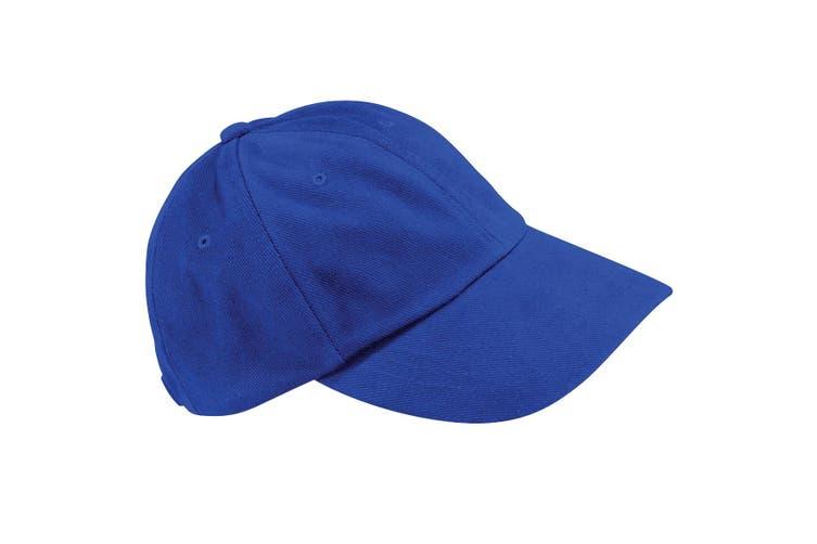 Beechfield Unisex Low Profile Heavy Brushed Cotton Baseball Cap (Bright Royal) (One Size)