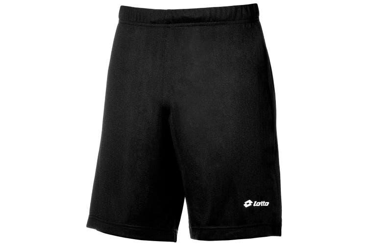 Lotto Boys Football Omega Sports Short (Black) (LB)