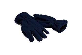 Beechfield Unisex Suprafleece Anti-Pilling Thinsulate Thermal Winter Gloves (French Navy) - UTRW235