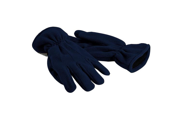 Beechfield Unisex Suprafleece Anti-Pilling Thinsulate Thermal Winter Gloves (French Navy) (L/XL)