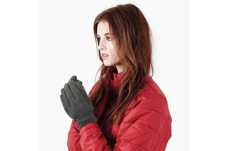 Beechfield Unisex Suprafleece Anti-Pilling Alpine Winter Gloves (Charcoal) (S)
