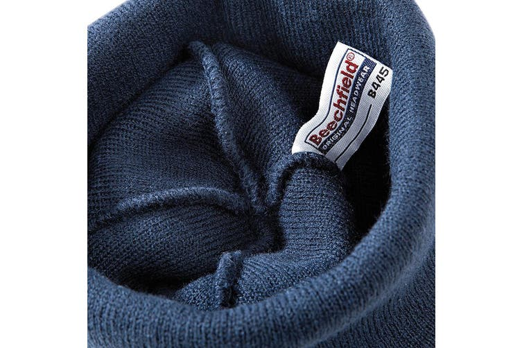 Beechfield Unisex Plain Winter Beanie Hat / Headwear (Ideal for Printing) (French Navy) (One Size)