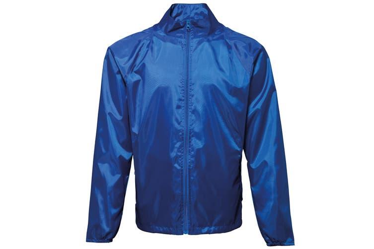 2786 Unisex Lightweight Plain Wind & Shower Resistant Jacket (Royal) (XL)