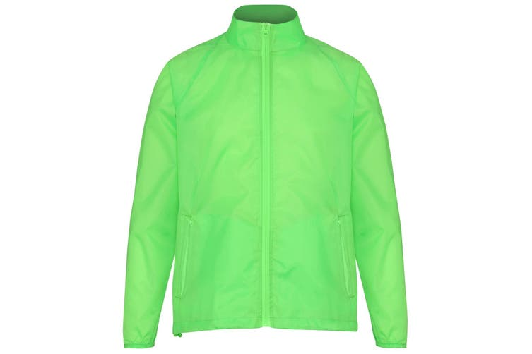 2786 Unisex Lightweight Plain Wind & Shower Resistant Jacket (Lime) (2XL)