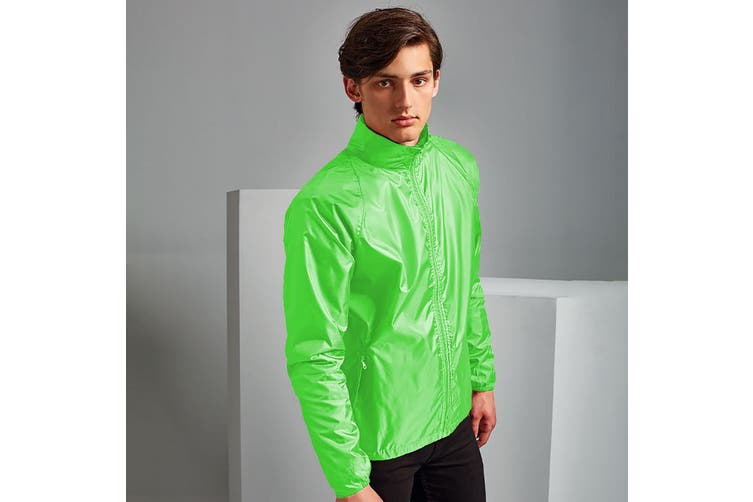 2786 Unisex Lightweight Plain Wind & Shower Resistant Jacket (Lime) (L)
